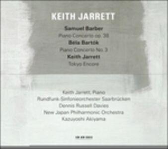 CD Concerto per pianoforte op.38 / Concerto per pianoforte n.3 / Tokyo Encore Keith Jarrett , Samuel Barber , Bela Bartok
