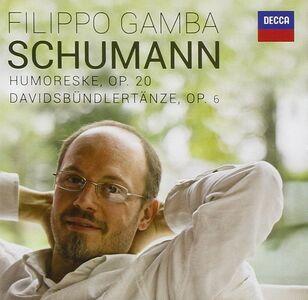 Foto Cover di Humoresque - Davidbündlertänze, CD di Robert Schumann,Filippo Gamba, prodotto da Decca