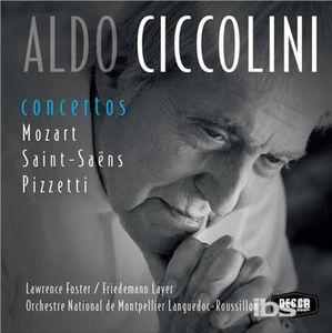 CD Concerti Wolfgang Amadeus Mozart , Camille Saint-Saëns , Ildebrando Pizzetti