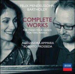 CD Musica completa per pianoforte a quattro mani e per due pianoforti di Felix Mendelssohn-Bartholdy