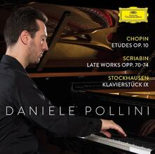 Musica per pianoforte - CD Audio di Fryderyk Franciszek Chopin,Alexander Nikolayevich Scriabin,Karlheinz Stockhausen,Daniele Pollini
