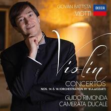 Concerti per violino n.14 & n.16 - CD Audio di Giovanni Battista Viotti,Guido Rimonda