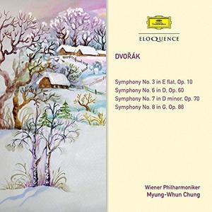 CD Symphonies 3 6 7 & 8 di Antonin Dvorak