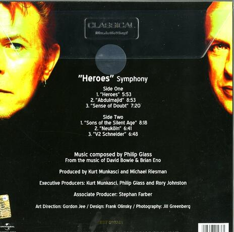 Heroes Symphony (from the Music of David Bowie & Brian Eno) - Vinile LP di Philip Glass - 2