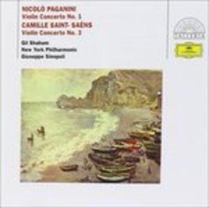 CD Concerto per violino n.1, n.3 Niccolò Paganini , Camille Saint-Saëns