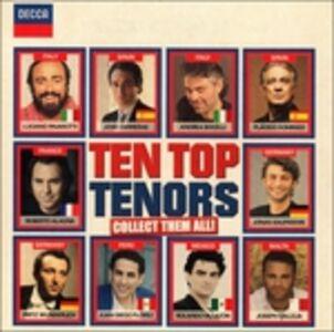 Foto Cover di Ten Top Tenors, CD di  prodotto da Decca