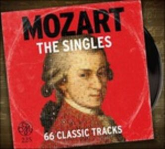 CD Mozart 225. The Singles Collection di Wolfgang Amadeus Mozart