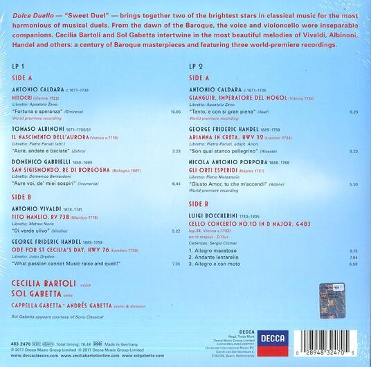 Dolce duello (Pink Coloured Vinyl) - Vinile LP di Cecilia Bartoli,Sol Gabetta,Andrés Gabetta,Cappella Gabetta - 2