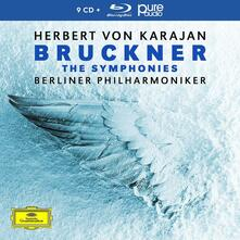 Le sinfonie (Limited Box Set Edition) - CD Audio + Blu-ray di Anton Bruckner,Herbert Von Karajan,Berliner Philharmoniker