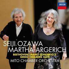 Concerto per pianoforte n.2 / Holdberg Suite - CD Audio di Ludwig van Beethoven,Edvard Grieg,Martha Argerich,Seiji Ozawa,Mito Chamber Orchestra