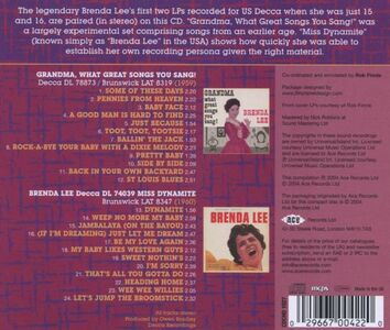CD Grandma, What Great Songs You Sang-Miss di Brenda Lee 1