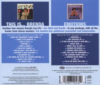 CD This Is Brenda-Emotions di Brenda Lee 1