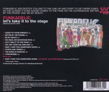 CD Let's Take it to the Stage di Funkadelic 1