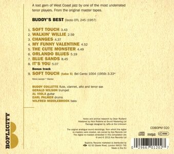CD Buddy's Best di Buddy Collette (Quintet) 1