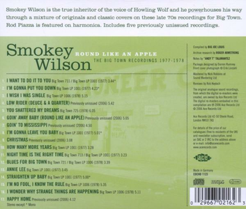 CD Round Like An Apple. The Bigtown Sessions di Smokey Wilson 1