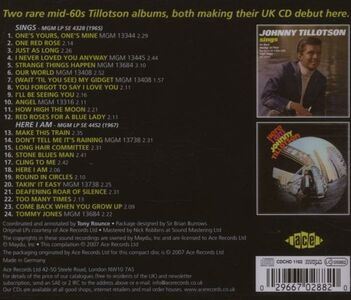 CD Sings - Here I Am di Johnny Tillotson 1