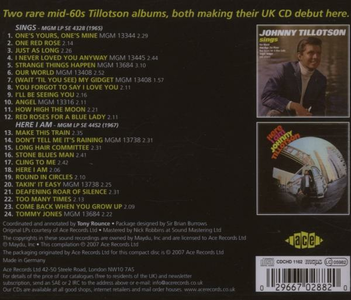 CD Sings - Here I Am di Johnny Tillotson 1