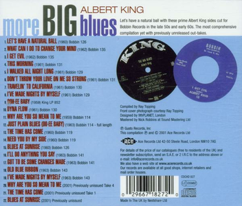 CD More Big Blues di Albert King 1