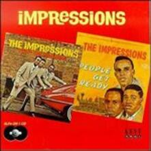People Get Ready - Keep on Pushing - CD Audio di Impressions