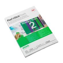 GBC Pouch plastificazione Peel`n Stick A4 2x75 mic opache (25)