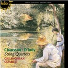 Quartetti per archi - CD Audio di Ernest Chausson,Vincent D'Indy,Chilingirian Quartet