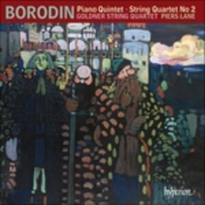 Quintetto con pianoforte - Quartetto per archi n.2 - CD Audio di Alexander Porfirevic Borodin,Goldner String Quartet,Piers Lane