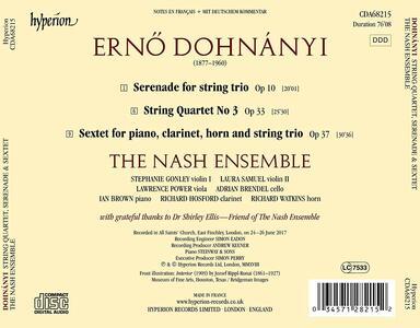 Quintetti per archi - Serenate - Sestetti - CD Audio di Erno Dohnanyi,Nash Ensemble - 2