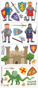 Adesivi Murali Removibili. Castello e Cavalieri