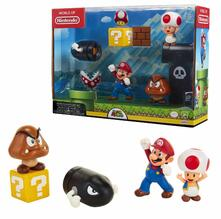 Jakks 64510-11L. Nintendo. Mario Acorn Plains Diorama Set 5 Figure 6 Cm