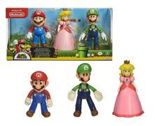 Jakks 64511-4L. Nintendo. Mushroom Kingdom Diorama Set 3 Figure 10 Cm