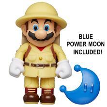 Nintendo. Figure 10 Cm. Explorer Mario With Blue Power Moon. Jakks (72680)