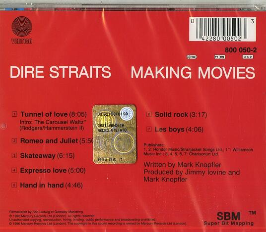 Making Movies - CD Audio di Dire Straits - 2