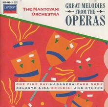 Great Melodies from the Operas - CD Audio di Mantovani Orchestra