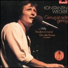 Genug Ist Nicht Genug - CD Audio di Konstantin Wecker