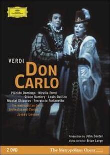 Giuseppe Verdi. Don Carlo (2 DVD) - DVD di Placido Domingo,Mirella Freni,Grace Bumbry,Giuseppe Verdi