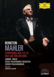 Gustav Mahler. Sinfonia n. 9 e 10. Leonard Bernstein (2 DVD) di Humphrey Burton - DVD