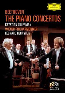 Ludwig van Beethoven. The Piano Concertos (2 DVD) - DVD di Ludwig van Beethoven,Leonard Bernstein,Wiener Philharmoniker,Krystian Zimerman