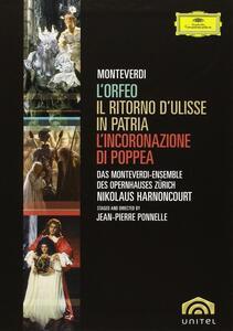 Monteverdi. L'Orfeo - Il ritrono di Ulisse in patria - L'incoronazione... (5 DVD) di Jean-Pierre Ponnelle