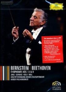 Leonard Bernstein. Beethoven: Symphonies 1, 8 & 9 - DVD