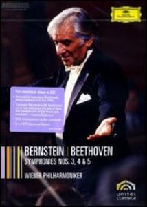 Leonard Bernstein. Beethoven: Symphonies 3, 4 & 5 - DVD