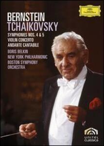Leonard Bernstein. Tchaikovsky: Sinfonie n. 4 e 5 - Concerto per violino di Humphrey Burton - DVD