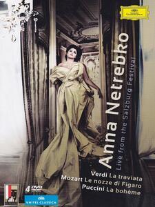 Anna Netrebko. Live From the Salzburg Festival (4 DVD) di Claus Guth,Brian Large