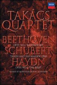 Takács Quartet. Beethoven, Schubert, Haydn - DVD