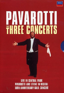 Film Pavarotti. Three Concerts Brian Large