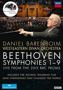 Ludwig van Beethoven. Symphonies 1-9. Live from the 2012 BBC Proms (4 DVD) - DVD di Ludwig van Beethoven,West-Eastern Divan Orchestra,National Youth Choir of Great Britain,Daniel Barenboim