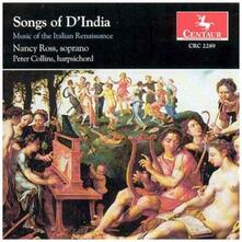 Songs of D'india - CD Audio di Sigismondo D'India