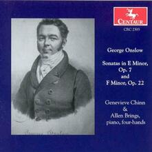 Sonatas In E Minor F Minor - CD Audio di George Onslow