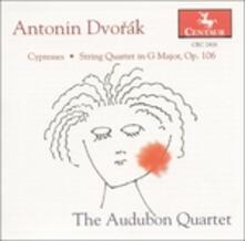 Cypresses - String Quartet - CD Audio di Antonin Dvorak