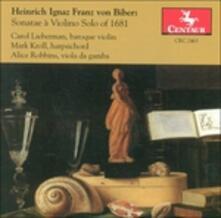 Sonatae a Violino Solo of - CD Audio di Heinrich Ignaz Franz Von Biber
