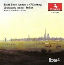 Anni di pellegrinaggio. Anno II: Italia - CD Audio di Franz Liszt